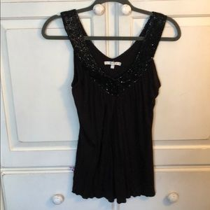Matty m black sequins top size small